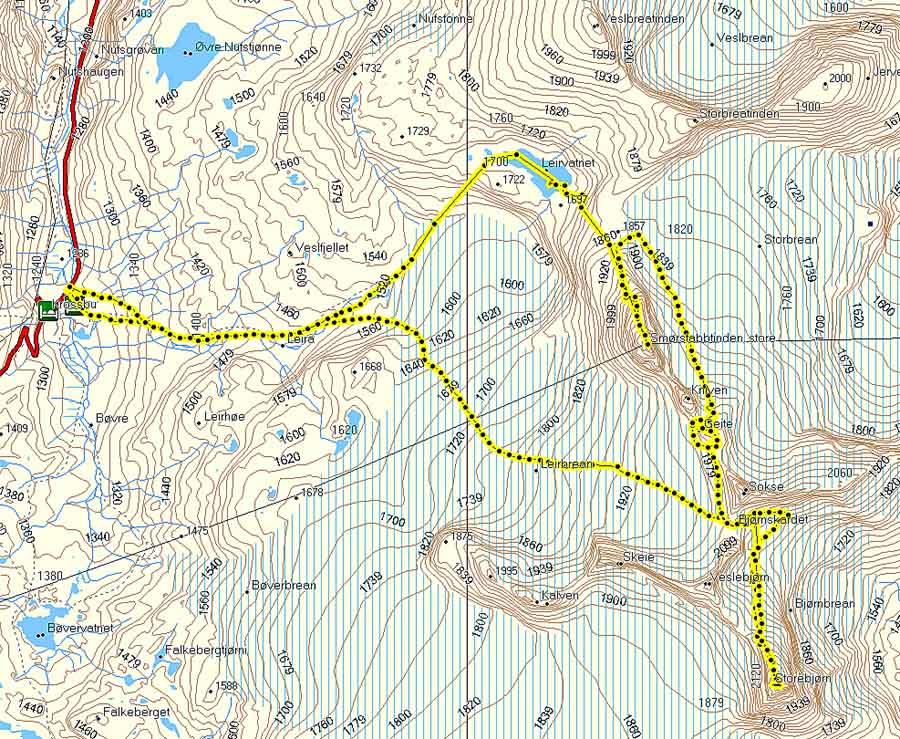 bøverbreen kart Voss Foto og Miljø :: bøverbreen kart